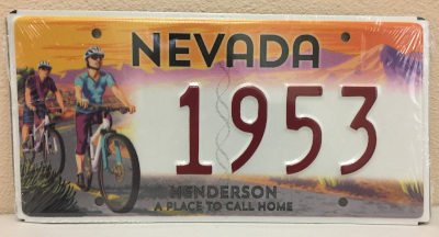 Henderson Historical Society Souvenir Nevada License Plate